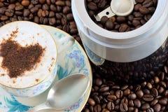 有机咖啡鲜美好刷新的饮料 免版税库存图片