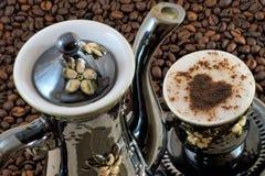 有机咖啡鲜美好刷新的饮料 免版税库存照片
