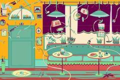 有机器人的餐馆 免版税库存照片