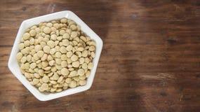有机未加工的扁豆-透镜culinaris 库存照片