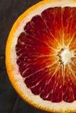 有机未加工的红色血橙 免版税图库摄影