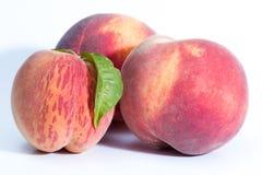 有机桃子 免版税库存照片