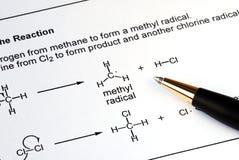 有机的化学 免版税库存照片