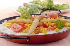 有机肉菜饭蔬菜 免版税图库摄影