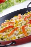 有机肉菜饭西班牙语蔬菜 图库摄影
