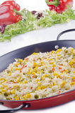 有机肉菜饭西班牙语蔬菜 库存照片