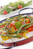 有机肉菜饭西班牙语蔬菜 免版税库存照片