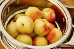 有机自然果子桃子水多的可口夏天 免版税库存图片
