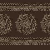 有机螺旋玫瑰色样式,种族部族样式 向量例证