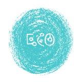 有机象和eco徽章 免版税库存照片
