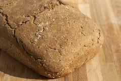 有机酵母家制面包 免版税库存图片