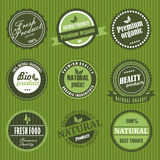 有机食品标签 图库摄影
