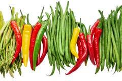 有机食品 五颜六色的菜被隔绝在白色背景 库存图片