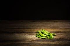 有机香豌豆花 免版税库存照片