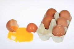 有机鸡蛋 库存照片