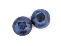 有机,成熟和明亮的蓝莓,被隔绝在白色背景 刷新的蓝莓顶视图  夏天果子 免版税库存图片