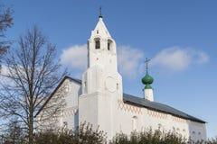 有构想教会的餐厅在苏兹达尔被修造了16世纪 俄罗斯旅行金黄圆环  免版税库存照片