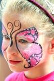 有构成的逗人喜爱的小女孩 免版税库存图片