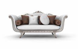 有枕头的沙发 免版税库存照片