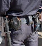 有枪带的,手铐俄国警察开枪, shoker和holst 库存图片