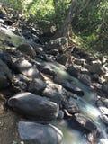 有某处岩石的河在墨西哥 免版税库存图片