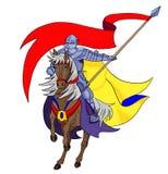 有标志的骑士 免版税库存图片