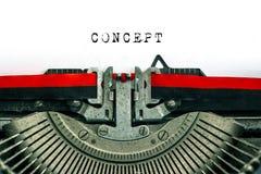 有样品文本概念的古色古香的打字机 库存照片