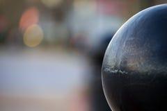 有桅顶下桅盘的系船柱在公园-阿什维尔,北卡罗来纳 免版税图库摄影