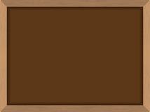 有框架的黑板布朗在木纹理 粉笔板fo sch 库存照片