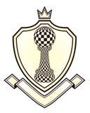 有棋典当的纹章皇家冠 库存图片