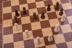 有棋子的棋盘 免版税库存照片