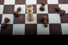 有棋子的棋盘 免版税图库摄影