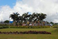 有棕榈树的草坪,毛里求斯 图库摄影