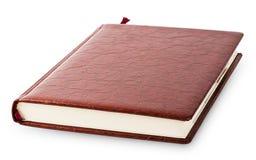 有棕色皮革的日志盖子 免版税库存照片