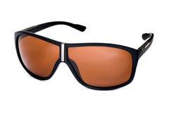 有棕色玻璃的时髦的时尚太阳镜 免版税库存照片
