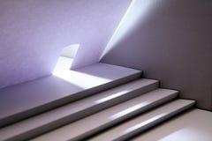 有楼梯的纸议院 免版税库存照片
