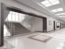 有楼梯的霍尔 免版税库存照片