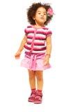美好的五岁女孩 免版税库存图片