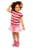 美好的5岁黑人女孩 免版税库存图片