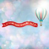 有横幅的热空气气球 10 eps 免版税库存照片