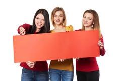 有横幅的青年人 免版税库存图片