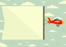有横幅的,传染媒介例证飞机 向量例证