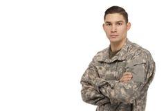 有横渡的胳膊的战士 免版税库存图片