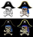 有横渡的骨头的头骨海盗 皇族释放例证