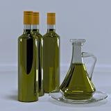有橄榄油的水罐 免版税库存照片