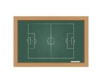 有橄榄球场的黑板 免版税图库摄影
