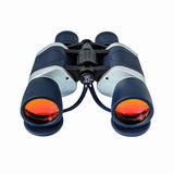 有橙色透镜的双筒望远镜 免版税库存照片