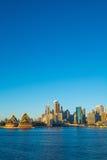 有歌剧院的悉尼市 免版税图库摄影