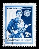 有步枪的,工作者民兵serie工作者,大约1967年 免版税库存图片