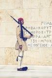有步枪的3 Evzone战士 免版税图库摄影
